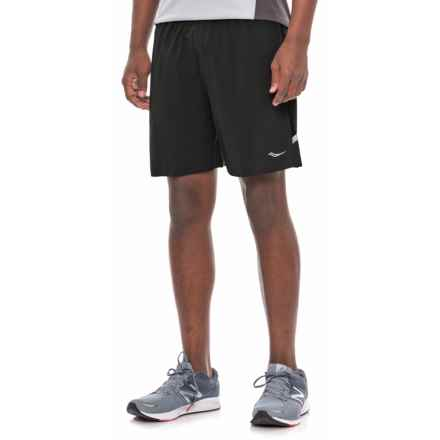 Saucony Run Lux Shorts (For Men) in Black - Closeouts