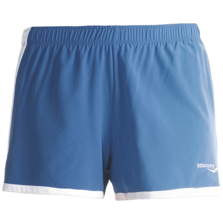 Saucony Run Lux Shorts - Liner Brief (For Women) in Pacific/White