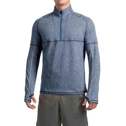 Saucony Run Strong Sport Shirt - Zip Neck, Long Sleeve (For Men) in Major Blue - Closeouts