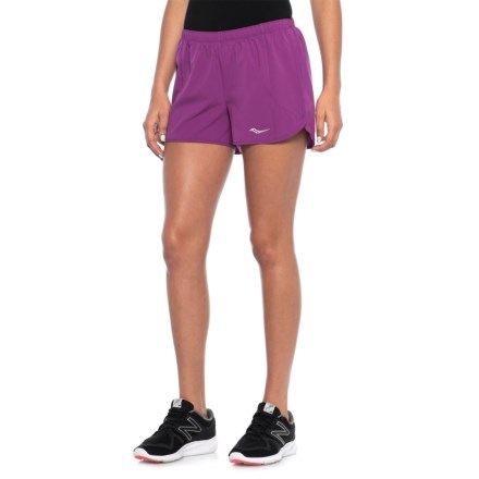 4f5e81176 Saucony Rush Running Shorts - Built-In Brief (For Women) in Grape Crush