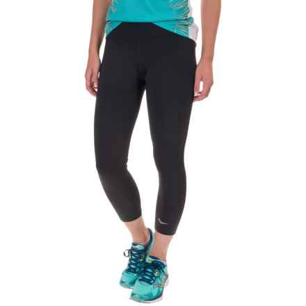 Saucony Scoot Capris (For Women) in Black - Closeouts