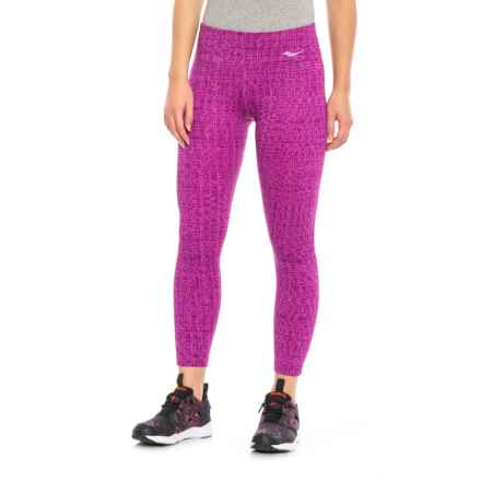 Saucony Scoot Crop Leggings (For Women) in Viola - Closeouts
