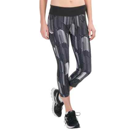 Saucony Scoot LX Capris (For Women) in Black Confetti Streamers Print - Closeouts
