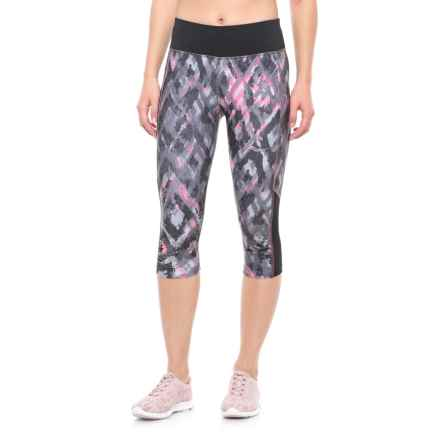 Saucony Scoot Mini Capris (For Women) in Black/Vizipro Pink - Closeouts