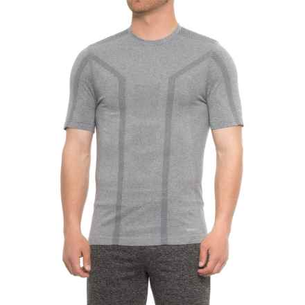 Saucony Seamless Body-Mapped Heathered Shirt - Short Sleeve (For Men) in Element Heather - Closeouts