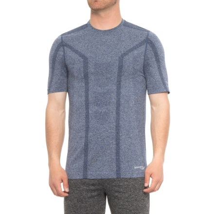 ec442bde Saucony Seamless Body-Mapped Heathered Shirt - Short Sleeve (For Men) in  Midnight