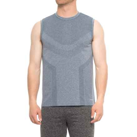 Saucony Seamless Body-Mapped Heathered Tank Top (For Men) in Smoke Heather - Closeouts