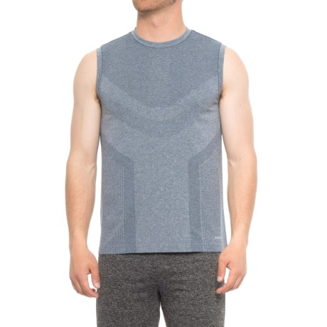8eaf2f12 Saucony Seamless Body-Mapped Heathered Tank Top (For Men) in Smoke Heather