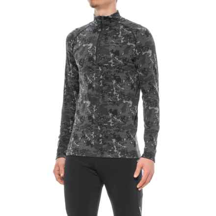 Saucony Seamless Sportop Shirt - Zip Neck, Long Sleeve (For Men) in Black - Closeouts