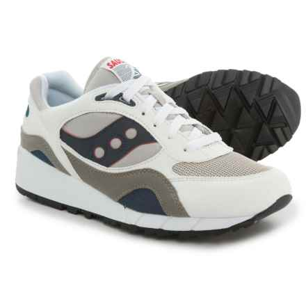 Saucony Shadow 6000 Sneakers (For Men) in White/Grey/Navy - Closeouts