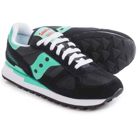 Saucony Shadow Original Sneakers (For Women) in Black/Aqua - Closeouts