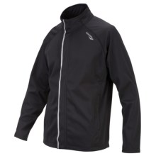 Saucony Shadowlite Soft Shell Jacket (For Men) in Black - Closeouts