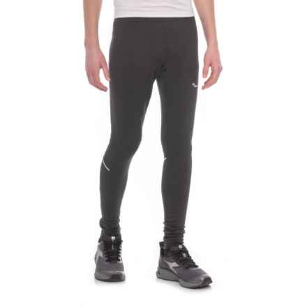 Saucony Siberius Running Tights (For Men) in Black - Closeouts
