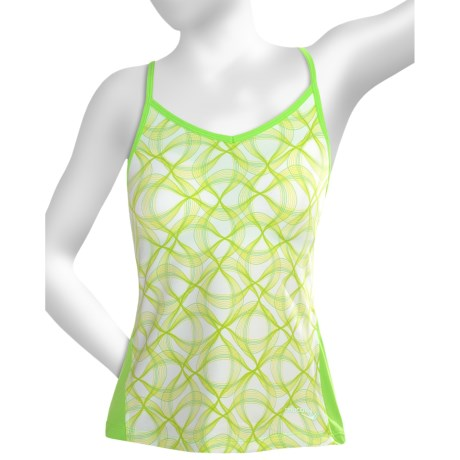 Saucony Spark Tank Top - Built-In Bra (For Women) in Nimble Green