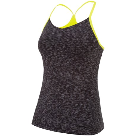 Saucony Spark Tank Top - Built-In Bra (For Women) in Phantom/Sipher