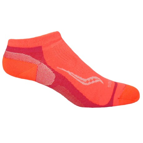 Saucony Speed of Light No-Show Tab Socks - Below the Ankle (For Men and Women) in Coral