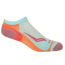 Saucony Speed of Light No-Show Tab Socks - Below the Ankle (For Men and Women) in Light Blue - Closeouts