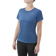 Saucony Speed Shirt - Short Sleeve (For Women) in Pacific - Closeouts