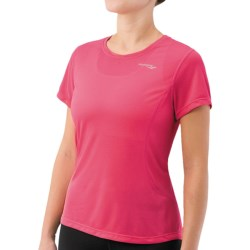 Saucony Speed Shirt - Short Sleeve (For Women) in Pink Aura