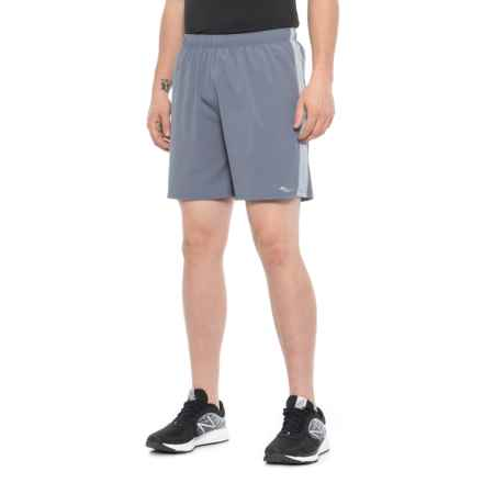Saucony Sprint Woven Running Shorts - Built-In Brief (For Men) in Smoke - Closeouts