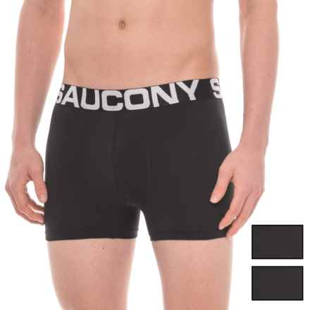 Saucony Stretch Boxer Briefs - 3-Pack (For Men) in Black/Black/Black - Closeouts