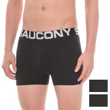 Saucony Stretch Boxer Briefs - 3-Pack (For Men) in Black/Black/Black