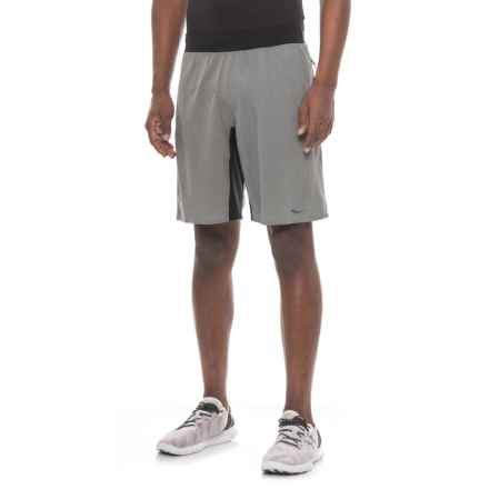 Saucony Stretch-Woven Shorts (For Men) in Dark Grey Heather - Closeouts