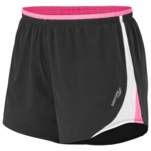Saucony Stryder Running Shorts (For Women) in Black/Vizipro Pink - Closeouts