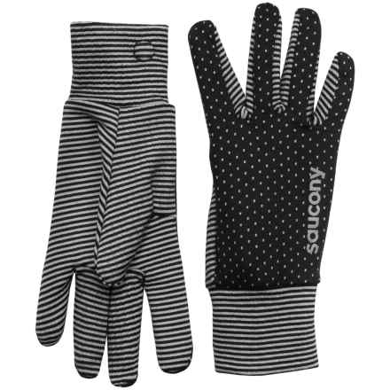 Saucony Swift Gloves (For Women) in Black/Heater Grey - Closeouts