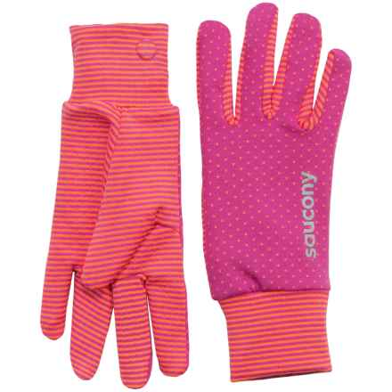 Saucony Swift Gloves (For Women) in Black Respberry/Vizipro Orange - Closeouts