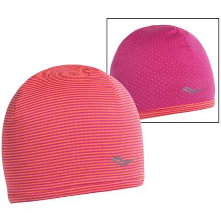 Saucony Swift Skull Cap - Reversible (For Women) in Black Raspberry - Closeouts