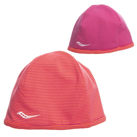Saucony Swift Skull Cap - Reversible (For Women) in Black Raspberry eb583c14f9f4