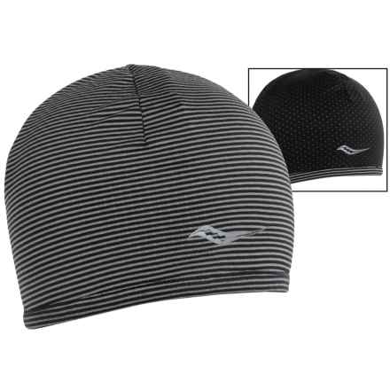 Saucony Swift Skull Cap - Reversible (For Women) in Black - Closeouts