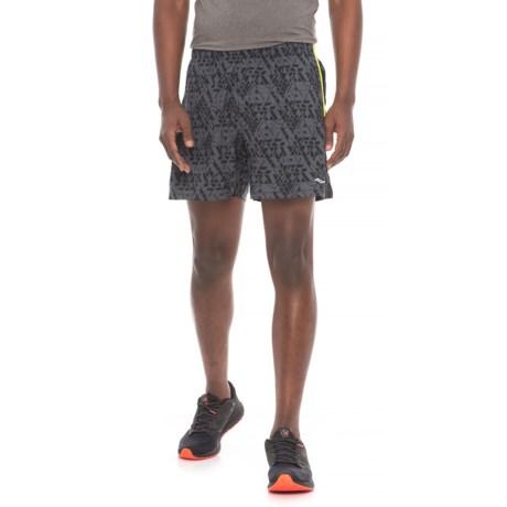 Saucony Throttle Shorts - Built-In Boxer Briefs (For Men) in Carbon
