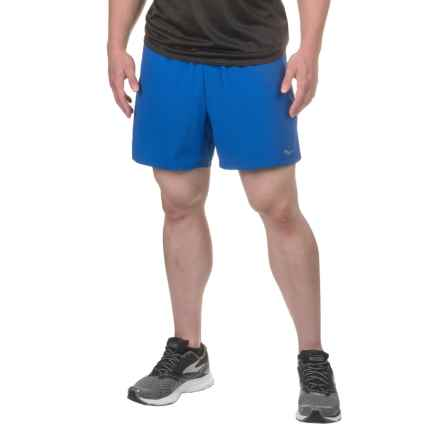 Saucony Throttle Shorts - Built-In Boxer Briefs (For Men) in Varsity Blue - Closeouts