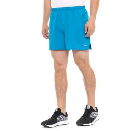 "Saucony Throttle Woven Shorts - 5"" (For Men) in Blue Aster - Closeouts"
