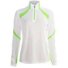 Saucony Transition Sportop II Pullover - Long Sleeve (For Women) in White/Nimble Green - Closeouts