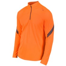Saucony Transition Sportop II Pullover - Zip Neck, Long Sleeve (For Men) in Vizipro Orange - Closeouts