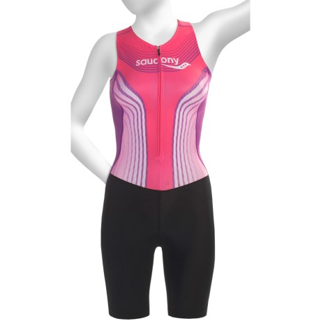 Saucony Tri Suit - UPF 50 (For Women) in Pink Energy