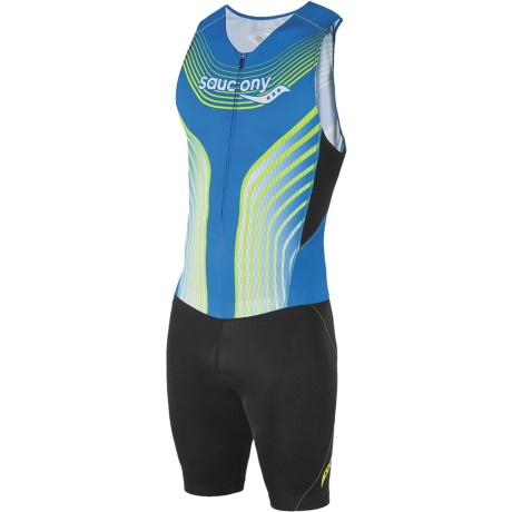 Saucony Tri Suit - UPF 50+ (For Men) in Astro Blue