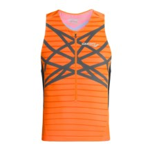 Saucony Tri Zip Tank Top - UPF 50+ (For Men) in Vizipro - Closeouts