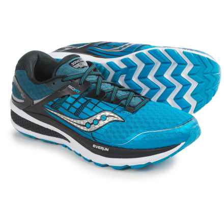 Saucony Triumph ISO 2 Running Shoes (For Men) in Blue/Black/Silver - Closeouts