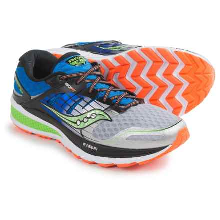 Saucony Triumph ISO 2 Running Shoes (For Men) in Blue/Silver/Slime - Closeouts