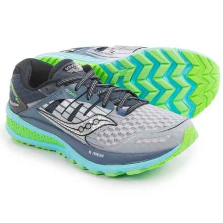Saucony Triumph ISO 2 Running Shoes (For Women) in Grey/Blue/Slime - Closeouts