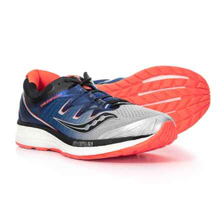 Saucony Triumph ISO 4 Running Shoes (For Men) in Silver/Blue/Vizi Red - Closeouts