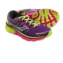 Saucony Triumph ISO Running Shoes (For Women) in Purple/Citron/Pink - Closeouts