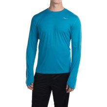 Saucony Velocity Running Shirt - Crew Neck, Long Sleeve (For Men) in Deep Water - Closeouts