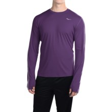 Saucony Velocity Running Shirt - Crew Neck, Long Sleeve (For Men) in Purple Valour - Closeouts