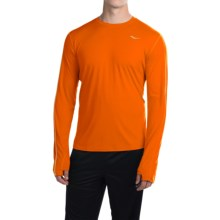Saucony Velocity Running Shirt - Crew Neck, Long Sleeve (For Men) in Vizipro Orange - Closeouts