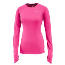 Saucony Velocity Running Shirt - Long Sleeve (For Women) in Black Raspberry - Closeouts